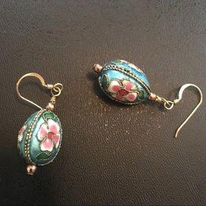 Vintage Floral Dangle Earrings
